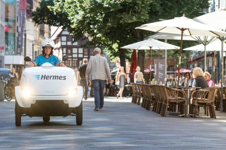 Hermes commences trials of the TRIPL electric scooter in Göttingen. (Photo: Hermes)