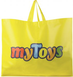 Die Kunden nehmen die myToys Mehrweg-Tragetaschen gut an. (Foto: myToys)