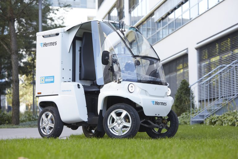 Das Elektrofahrzeug Paxster in Garching bei München.  Paxster, Elektrofahrzeug, Garching bei München