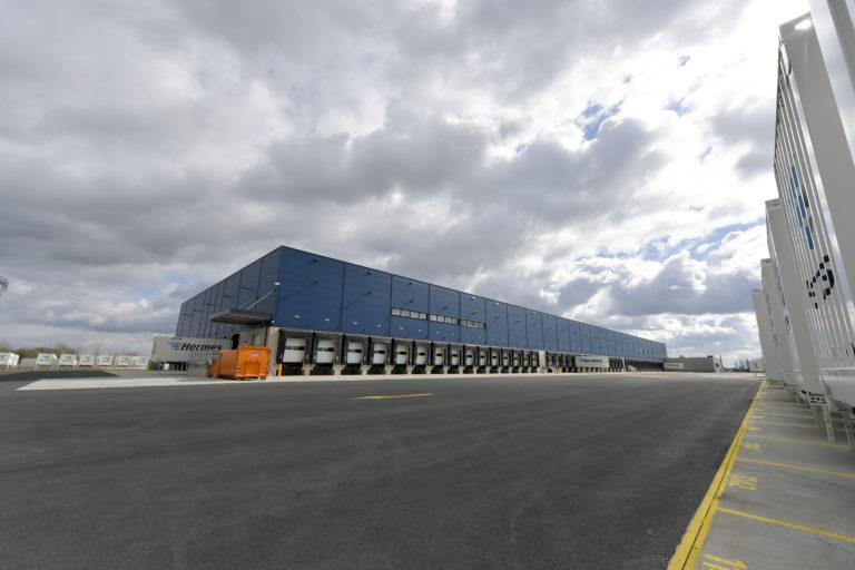 Das neue Hermes Logistik-Center in Leipzig. (Foto: Hermes)LC-Eröffnung, Hermes, Zustellung,