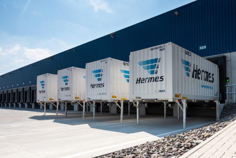 Eröffnung Hermes-Depot in Witten. Die Außenansicht des Neubaus.    depot, witten, infrastruktur, verteilzentrum, e-mobilität