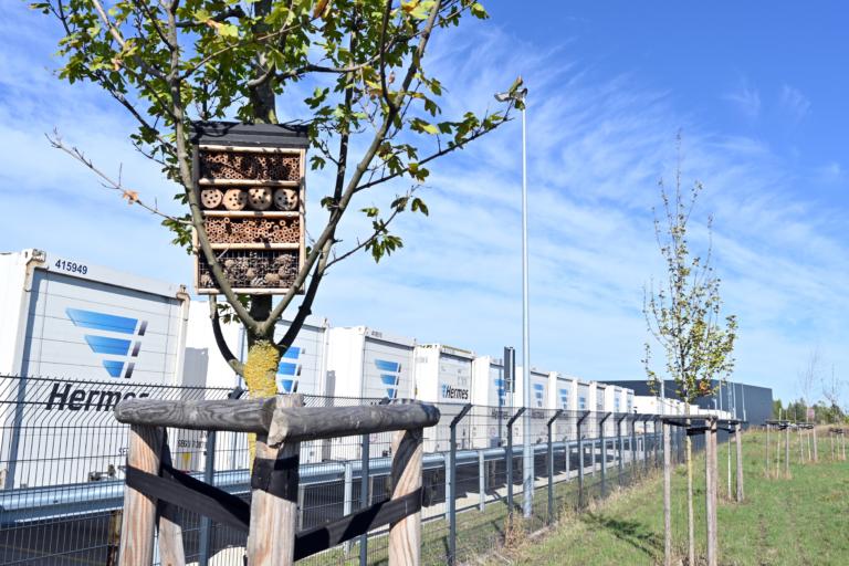 Nachhaltigkeit am LC Kabelsketal (Foto: Hermes) Nachhaltigkeit, Logistik-Center,